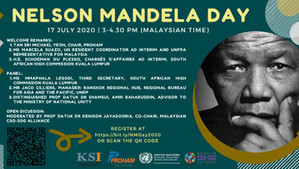 Online discussion on 17 July to mark Nelson Mandela Day