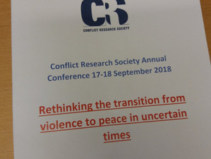 Varieties of Peace at the Conflict Research Society conference in Birmingham