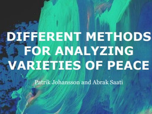 Johansson and Saati publish year's first Working Paper