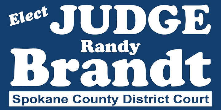 Vote Judge Randy Brandt Spokane County District Court Judge