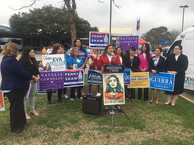 Press conference with Latina judicial candidates for 2020. to address the lack of Latina representation in our courts.