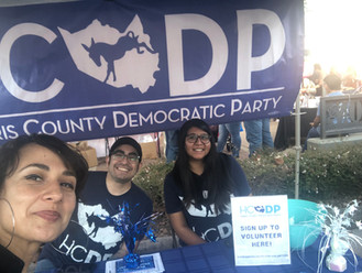 With Harris County Democratic Party during East End Event.