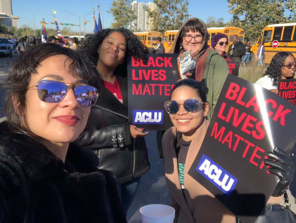 With ACLU TX during Houston's Martin Luther King Jr March, 2020.