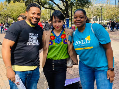 Supporting Black women during the black women's march 2020