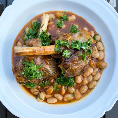 Rosemary and Tomato Braised Lamb Shanks