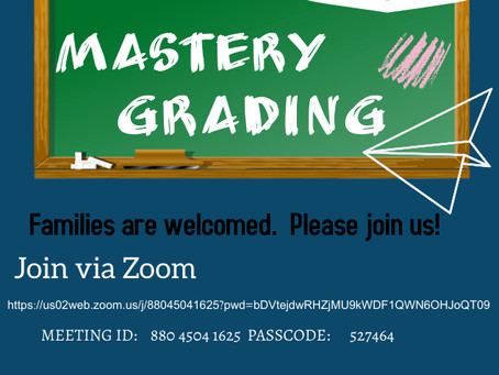 Mastery Grading Family Forum