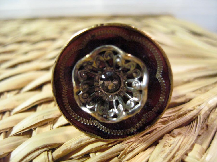 Upcycled Vintage Button Ring