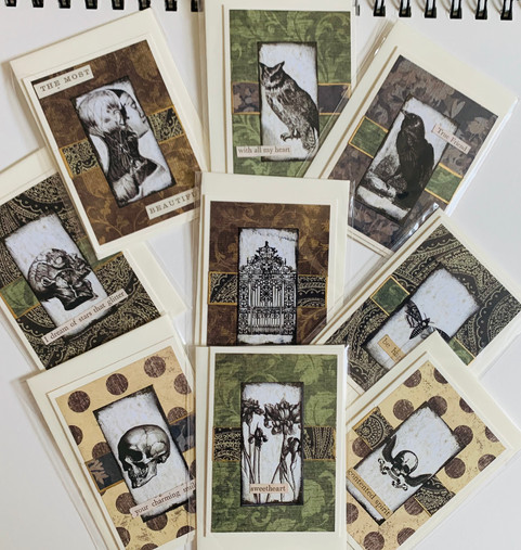 Spooky rectangle card and  envelope