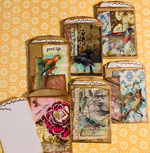 Handmade Brown Bag Cards and Envelope