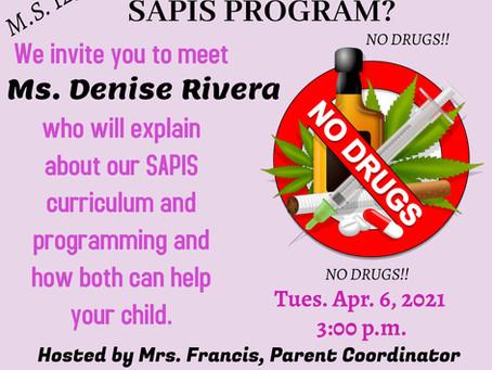 Parent Workshop - What is SAPIS?