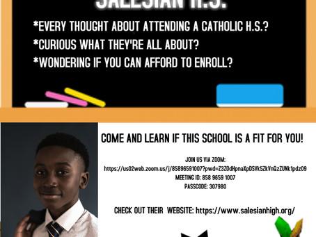 Parent Information Session - Salesian H.S.
