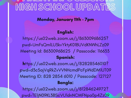 High School Application Information Session