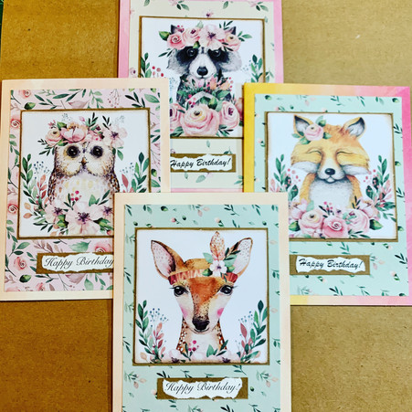 Woodland Critters Birthday Cards