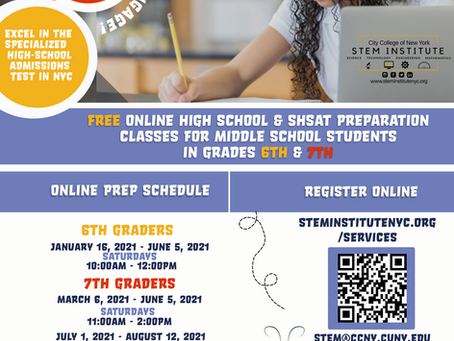FREE SHSAT test prep for 6th and 7th graders