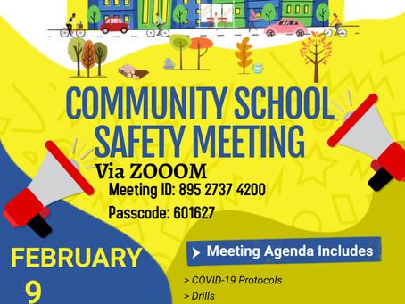 Community School Safety Meeting