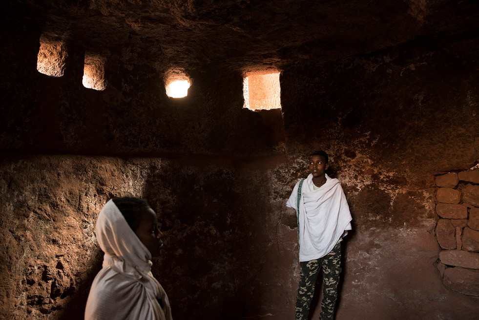 ETHIOPIE - LALIBELA INTEMPORELLE - ENFAN