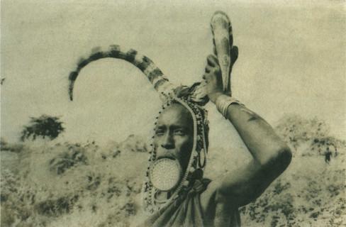 Portrait d'une femme Mursi, un peuple vivant dans la basse vallée de l'Omo, au Sud-Ouest de l'Éthiopie. Archive de mars 2016.