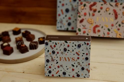Boîte 6 bouchées de chocolats fins FAYS, chocolaterie