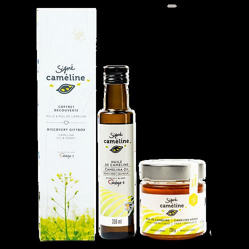 Coffret huile 250ml et miel 250g de caméline