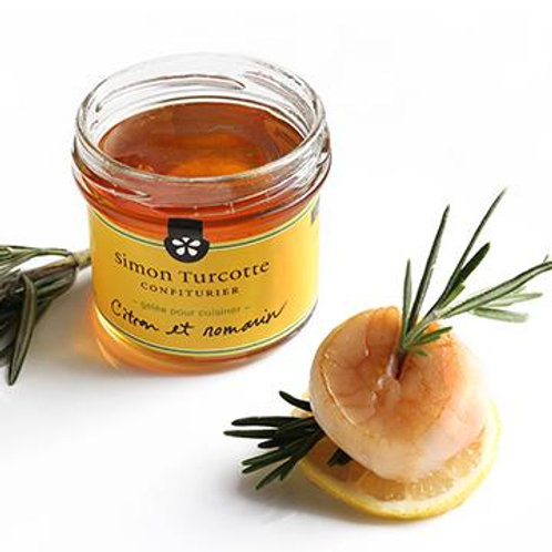 gelée citron et romarin