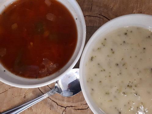 Soupe, potage ou crème du jour