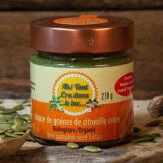 Beurre de graines de ctrouille crues