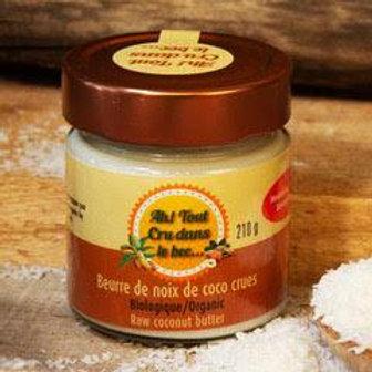 Beurre de noix de coco crues