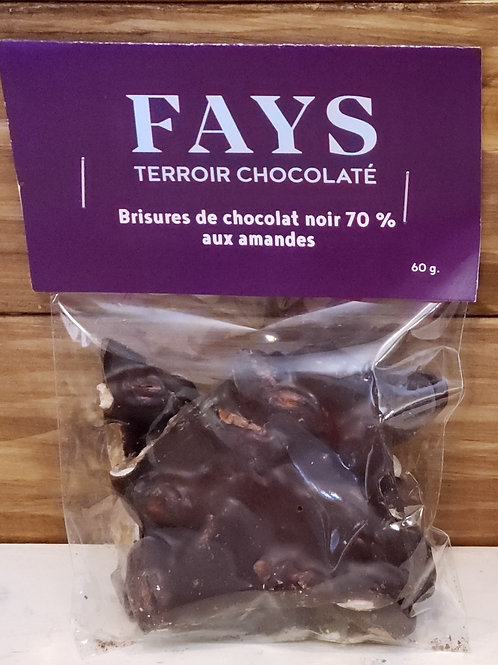 Brisures de chocolat noir 70%