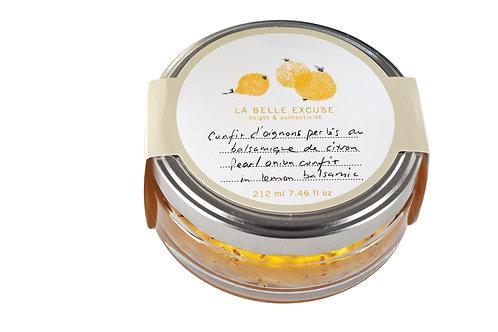 Confit d'oignons perlés citron