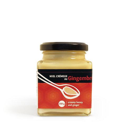 Miel crémeux gingembre 250g
