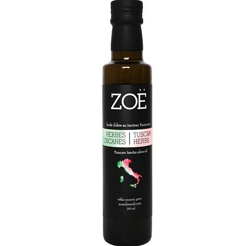 Huile d'olive aux herbes de Toscanes