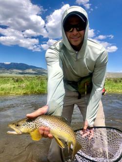 Big Brown Trout on the Cochetopa