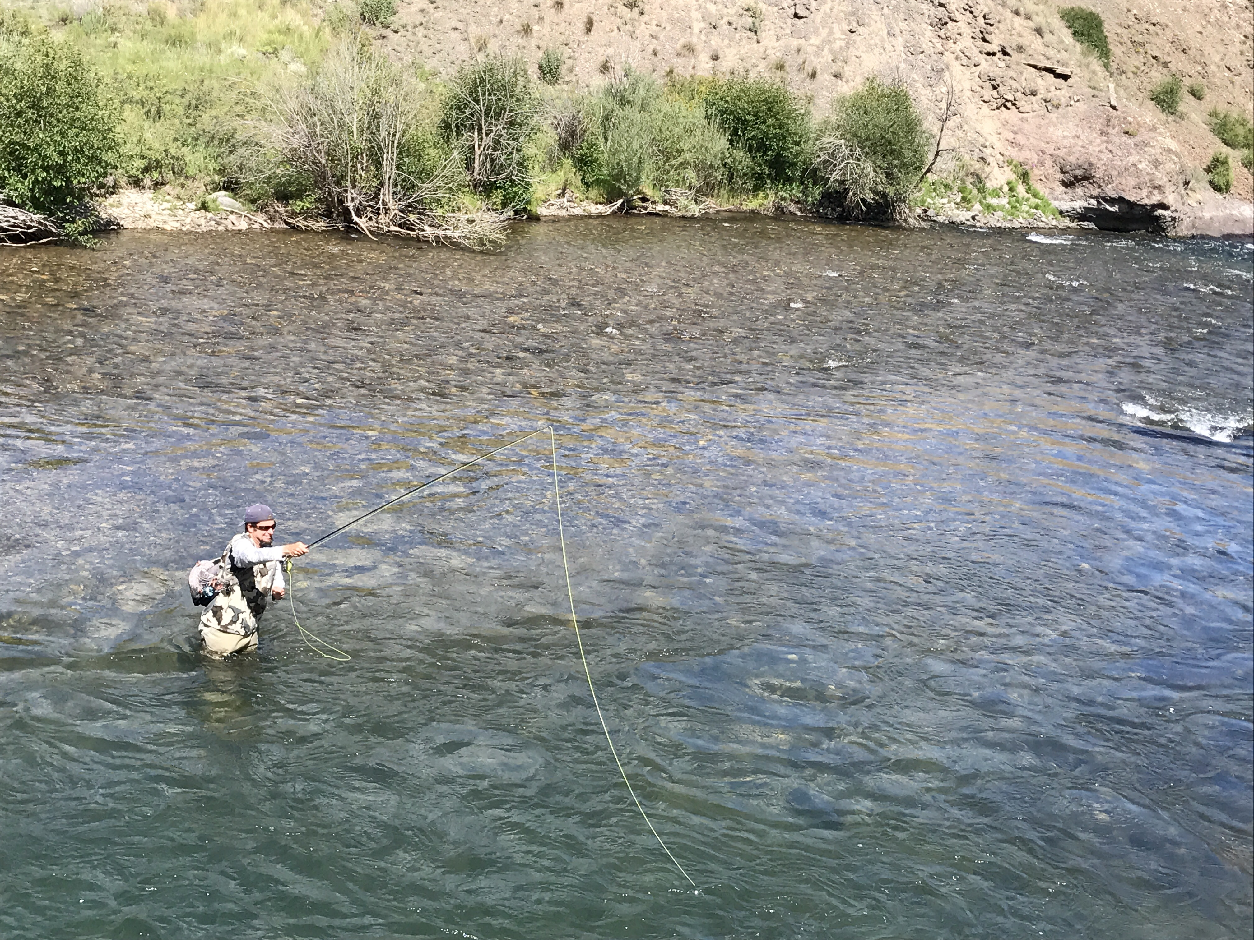 Casting to Lake Fork Gunnison Trout