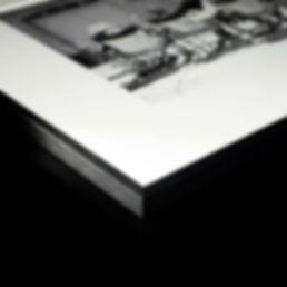 Cadre Nielsen Alpha noir, passe-partout, papier d'art Hahnemühle