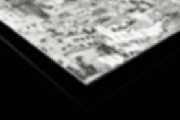 Dibond et châssis rentrant, papier d'art Hahnemühle
