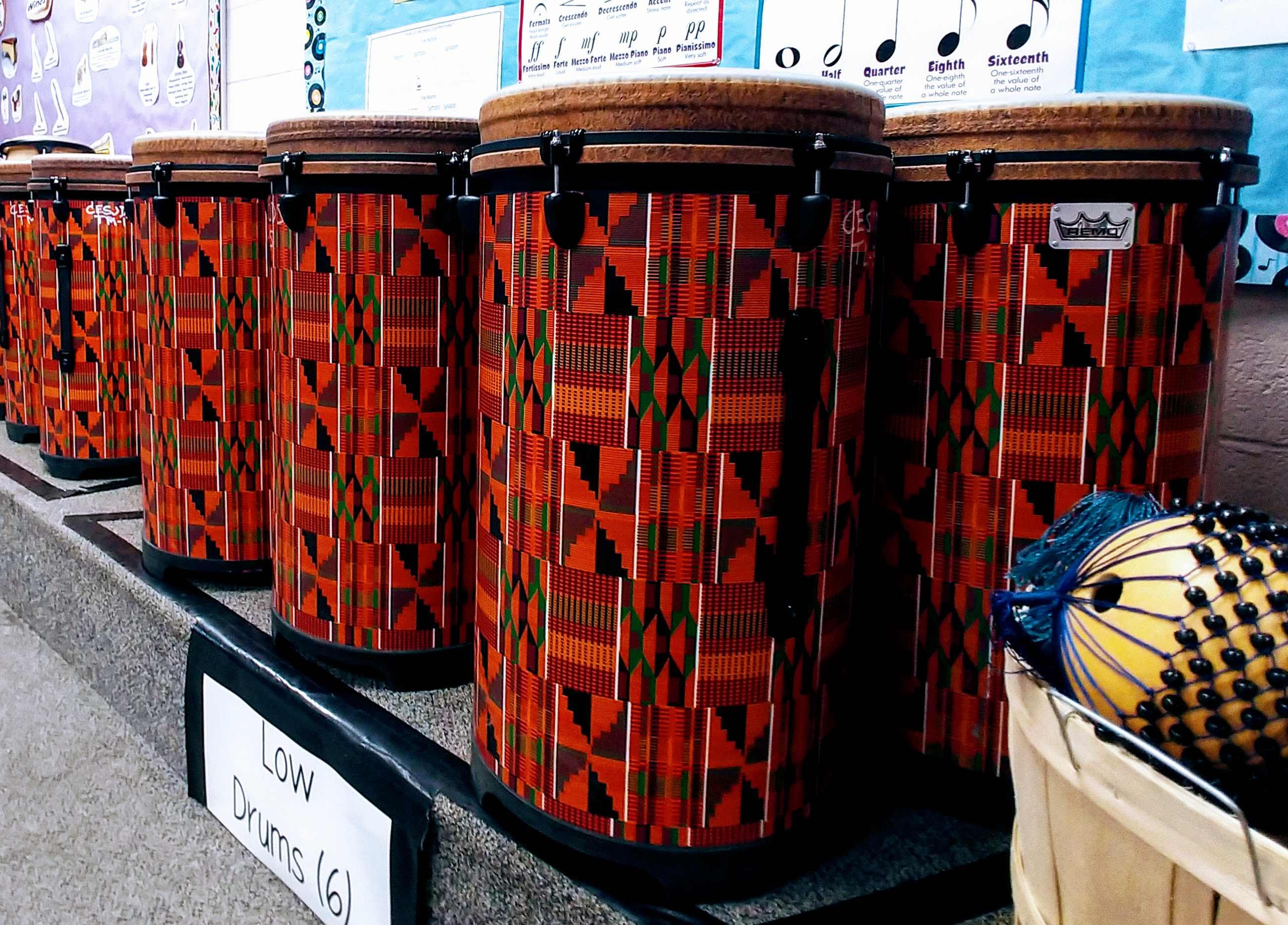 Tumabano Drums (Part of the World Music Drumming curriculum)