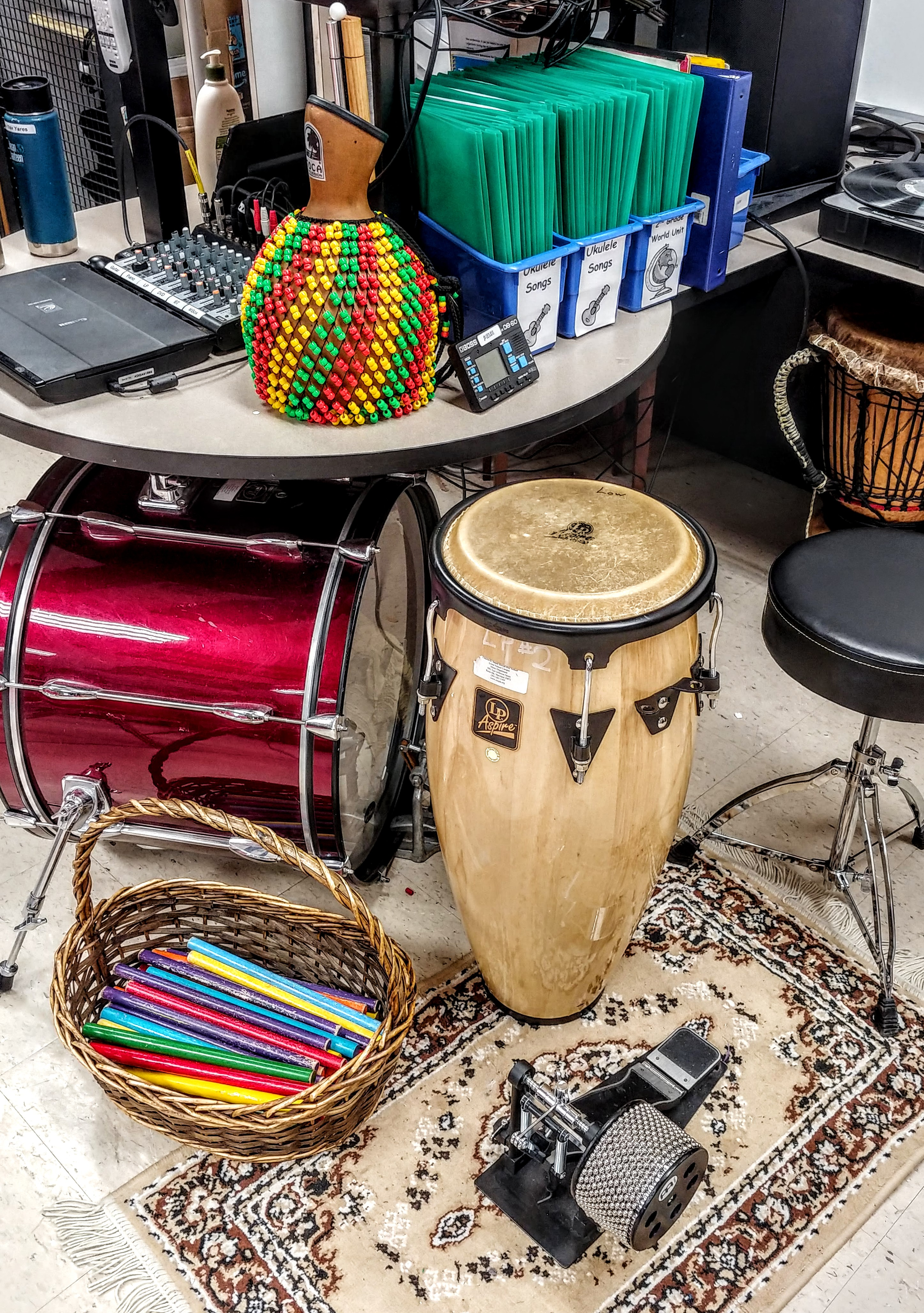 Percussion Instruments Used to Accompany Music Classes