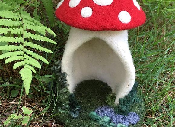 Mini Mushroom House Needle Felting Kit