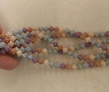 Czech Glass Beads, CZ30, mixed colors, 1 strand