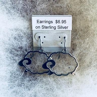 Open Sheep Earrings