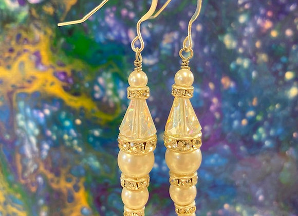 Swarovski Crystal and Sterling Silver Earrings #24
