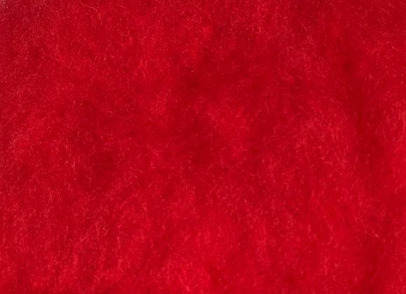 Wool Batting, R-1 (bright red)