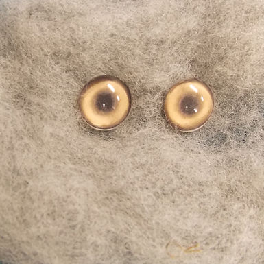 Glass Flatback Canine Eyes, CA3, 1 pair