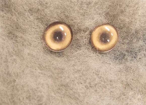 Glass Flatback Canine Eyes, CA3, 1 pair