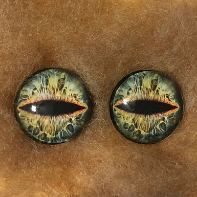 Glass Flatback Critter Eyes, CR9, 1 pair