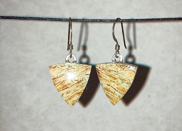 Matched Pair Genuine Agate Earrings (B)