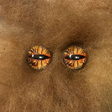 Glass Flatback Eyes, EX3, 1 pair