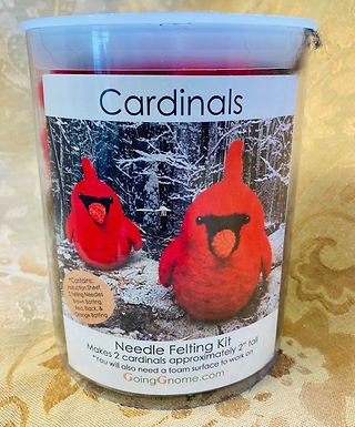 Two Cardinals Needle Felting Kit