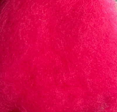 Wool Batting, R-4 (hot pinkish)