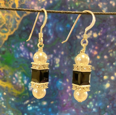 Swarovski Crystal and Sterling Silver Earrings, #23